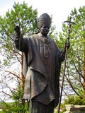 Roman Pontiff, Kamenets Podolskiy, Ukraine. View of a bronze sculpture of Roman Pontiff Titus Stock Photos