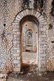 Roman porticus stock photos