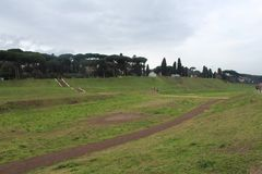 Roman Race Track Park lizenzfreies stockbild