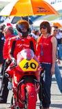 Roman Ramos pilot of Moto2  of the CEV Stock Photos