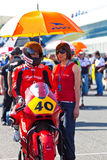 Roman Ramos pilot of Moto2  of the CEV Royalty Free Stock Images