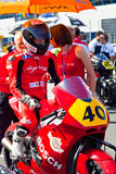 Roman Ramos pilot of Moto2  of the CEV Championship Stock Images