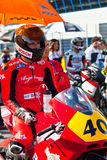 Roman Ramos pilot of Moto2  of the CEV Championship Stock Images