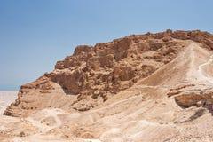 Roman Ramp a Masada in Israele Immagine Stock Libera da Diritti