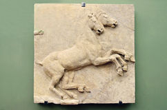 Roman relief. With horses from Uffizi Gallery, Florence, Italy royalty free stock photo