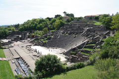 Roman remains of two arenas in Lyon, France Royalty Free Stock Image