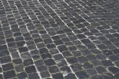 Roman Road. An ancient roman cobblestone road in rome Royalty Free Stock Photography