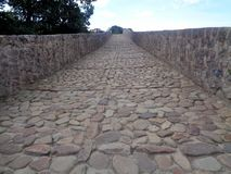 Roman road in Cagas de Onís royalty free stock images
