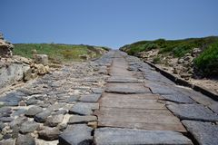Roman road, Sardinia Royalty Free Stock Photo