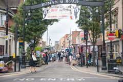 Roman Road Saturday markets Stock Photo