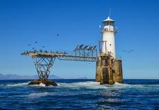Roman Rock Lighthouse stock afbeelding
