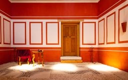 Red Roman Room royalty free stock images