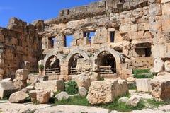 Roman Ruïnes in Baalbeck, Libanon Royalty-vrije Stock Afbeelding