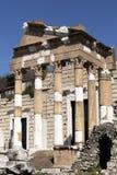Roman ruïnes in Brescia stock afbeeldingen