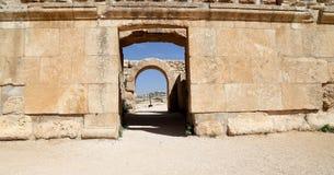 Roman ruïnes in de Jordanian stad van Jerash (Gerasa van Antiquiteit), Jordanië Royalty-vrije Stock Afbeelding