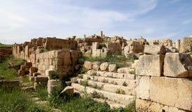 Roman ruïnes in de Jordanian stad van Jerash (Gerasa van Antiquiteit), Jordanië Stock Foto's
