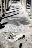 Roman ruïnes en mozaïeken, Paphos, Cyprus Stock Foto's