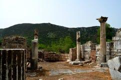 Roman ruïnes in Ephesus, Turkije Stock Afbeelding