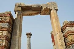 Roman ruïnes in Ephesus, Turkije Royalty-vrije Stock Afbeelding