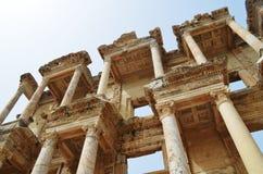Roman ruïnes in Ephesus, Turkije Stock Foto's