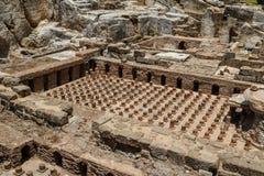 Roman ruïnes in het centrum van Beiroet Royalty-vrije Stock Foto