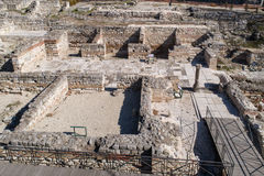 Roman ruïnes Oud Roman Baths van Odessos, Varna, Bulgarije Stock Afbeelding