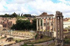 Roman ruïnes in Rome Royalty-vrije Stock Foto's