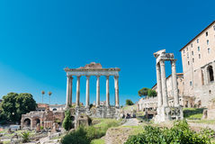 Roman ruïnes in Rome Royalty-vrije Stock Fotografie