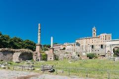 Roman ruïnes in Rome Royalty-vrije Stock Afbeelding