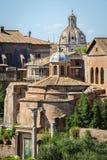 Roman ruïnes in Rome, Forum Stock Foto's