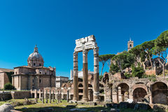 Roman ruïnes in Rome, Forum Royalty-vrije Stock Foto