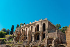 Roman ruïnes in Rome, Forum Royalty-vrije Stock Afbeeldingen