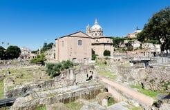 Roman ruïnes in Rome, Forum Stock Foto