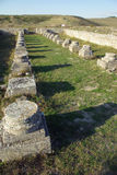 Roman ruïnes van Adamclisi - Roemenië stock afbeeldingen