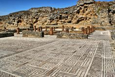 Roman ruïnes van Conimbriga Royalty-vrije Stock Afbeeldingen