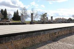Roman ruïnes van Gallo in Lyon, Frankrijk Stock Foto