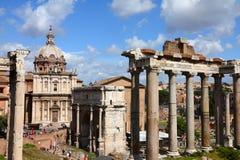 Roman ruïnes van het Forum Royalty-vrije Stock Afbeeldingen