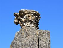 Roman ruïnes van Mérida Spanje - oude schatten royalty-vrije stock afbeelding