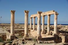Roman ruïnes van Sabratha, Libië Stock Foto