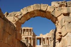 Roman ruïnes van Sabratha, Libië Stock Afbeelding