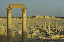 ROMAN RUÏNES VAN SYRIË PALMYRA Stock Fotografie