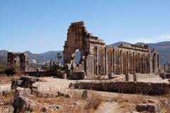 Roman ruïnes van Volubilis, Marokko Royalty-vrije Stock Afbeeldingen