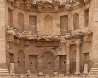 Roman Ruin. In Jerash Jordan stock photography