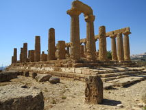Roman ruin. In the area known as the Valley of the Temples at Agrigento in Sicily, Italy Stock Photo