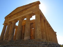 Roman ruin. In the area known as the Valley of the Temples at Agrigento in Sicily, Italy Royalty Free Stock Images
