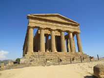 Roman ruin. In the area known as the Valley of the Temples at Agrigento in Sicily, Italy Stock Image