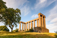 Roman Ruin Edinburgh Scotland. Roman ruins on top of Calton hill in Edinburgh, Scotland royalty free stock photography