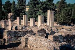 Roman ruin italica Spain Stock Photography
