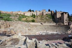 Roman ruin in Malaga, Spain Royalty Free Stock Photography