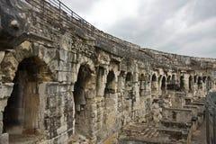 Roman Ruin in Nîmes Stock Photos